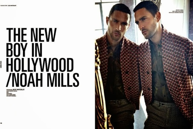 DSECTION MAGAZINE- Noah Mills in The New Boy In Hollywood by Jack Waterlot. www.imageamplified.com, Image Amplified