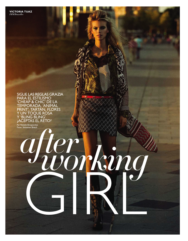GRAZIA SPAIN- Victoria Tuaz in After Working Girl by Sebastian Briech. Natalia Bengoechea, October 2013, www.imageamplified.com, Image Amplified