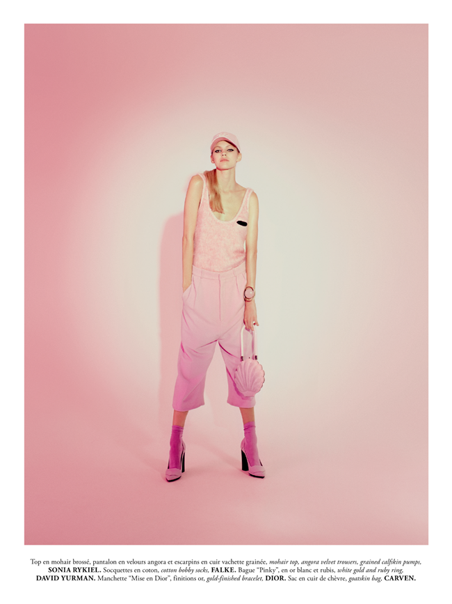 MADAME AIR FRANCE- Devon Windsor in Pink New Deal by Amanda Pratt. November 2013, Virginie Dhello, www.imageamplified.com, Image Amplified (1)