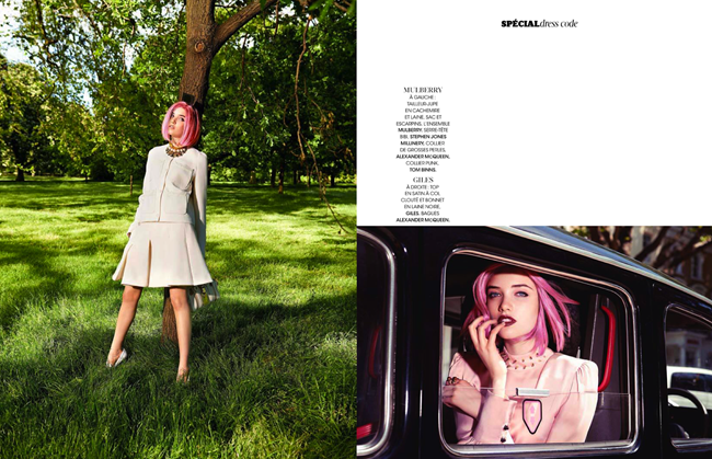 MADAME FIGARO- Grace Hartzel in Grain De Folie by Naomi Yang. Sophie Michaud, September 2013, www.imageamplified.com, IMage Amplified (1)