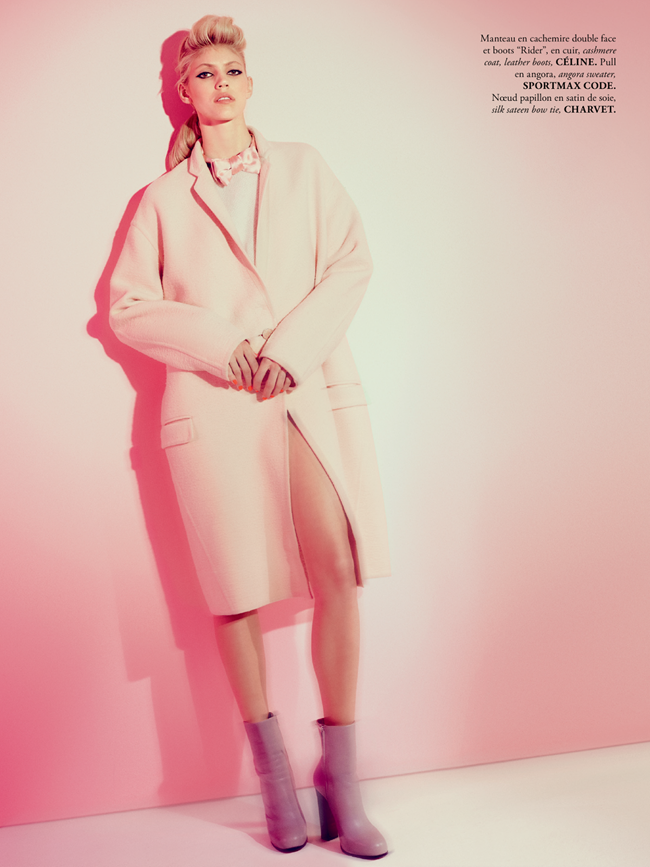 MADAME AIR FRANCE- Devon Windsor in Pink New Deal by Amanda Pratt. November 2013, Virginie Dhello, www.imageamplified.com, Image Amplified (2)