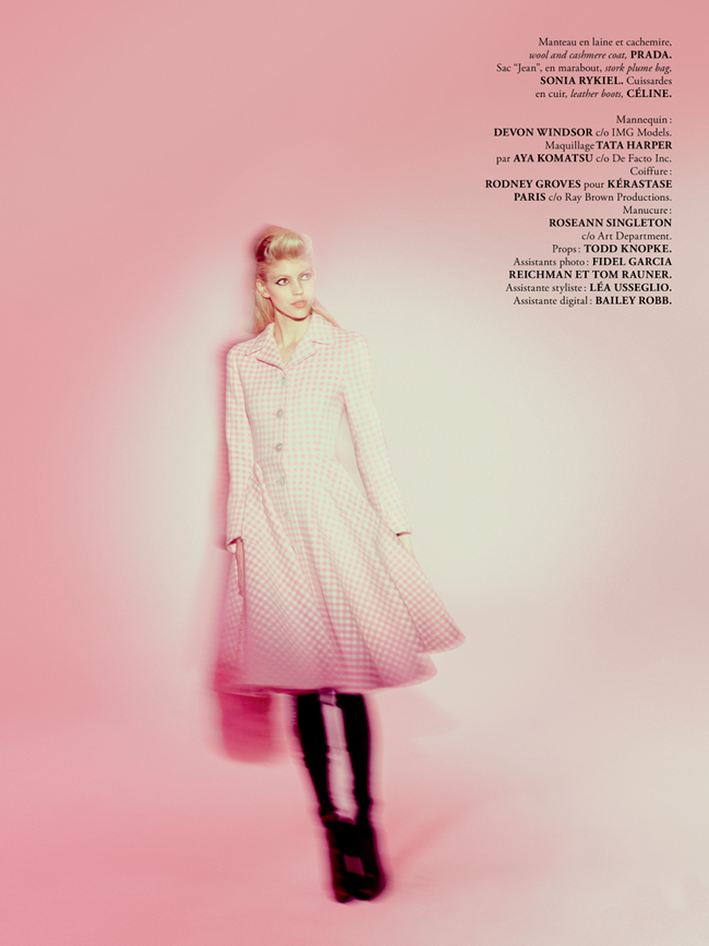 MADAME AIR FRANCE- Devon Windsor in Pink New Deal by Amanda Pratt. November 2013, Virginie Dhello, www.imageamplified.com, Image Amplified (8)