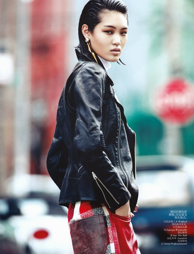VOGUE CHINA- Chiharu Okunugi in Street Leather by Lachlan Bailey. Clare Richardson, November 2013, www.imageamplified.com, Image Amplified (6)