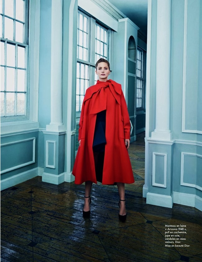 ELLE FRANCE- Jennifer Lawrence in Fair Play by Emma Summerton. October 2013, www.imageamplified.com, Image Amplified