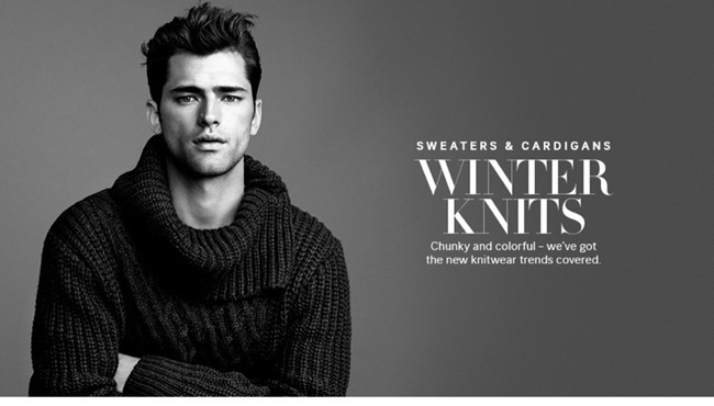 LOOKBOOK- Sean O'Pry in Winter Knits for H&M 2013. www.imageamplified.com, Image Amplified