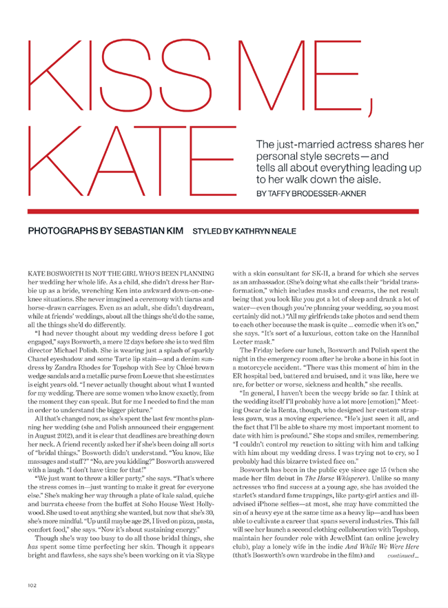 LUCKY MAGAZINE- Kate Bosworth in Kiss Me, Kate by Sebastian Kim. Kathryn Neale, November 2013, www.imageamplified.com, Image amplified (1)