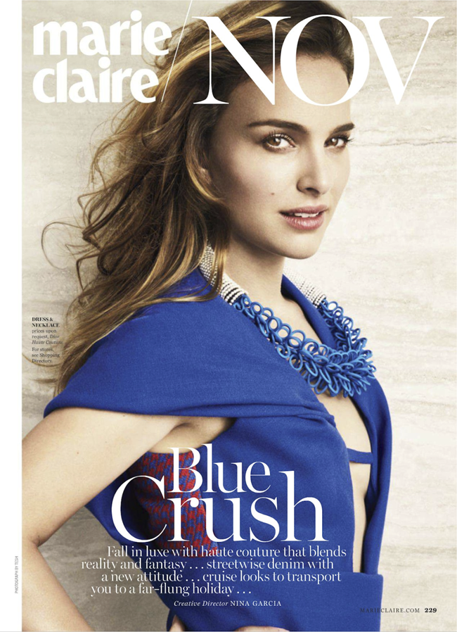 MARIE CLAIRE MAGAZINE- Natalie Portman in Natalie's Next Moves by Tesh. Alison Edmond, November 2013, www.imageamplified.com, Image Amplified (1)