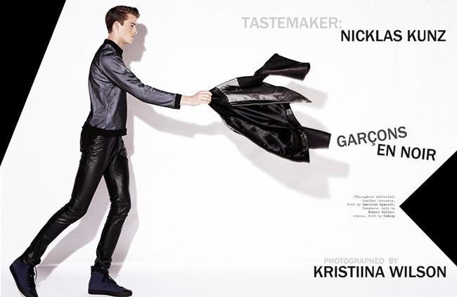 VISUAL TALES MAGAZINE- Tyler Rosenn & Hayden Kyte in Garcons En Noir by Kristiina Wilson. John Tan, www.imageamplified.com, Image Amplified (1)