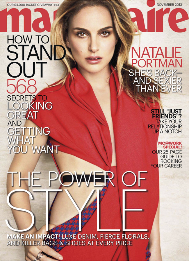 MARIE CLAIRE MAGAZINE- Natalie Portman in Natalie's Next Moves by Tesh. Alison Edmond, November 2013, www.imageamplified.com, Image Amplified