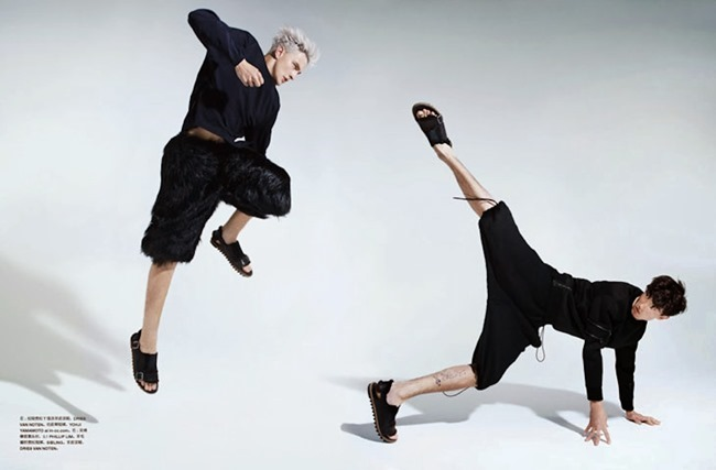 NUMERO HOMME CHINA- Benjamin Jarvis & Jester White in Face Off by Haruki Korikawa. Jason Leung, Fall 2013, www.imageamplified.com, Image Amplified (2)