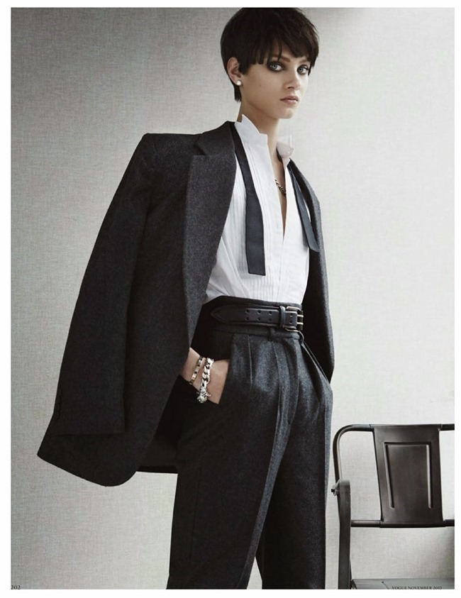 VOGUE GERMANY- Anna Selezneva in Cherchez L'Homme by Giampaolo Sgura. Claudia Englmann, November 2013, www.imageamplified.com, Image Amplified (1)