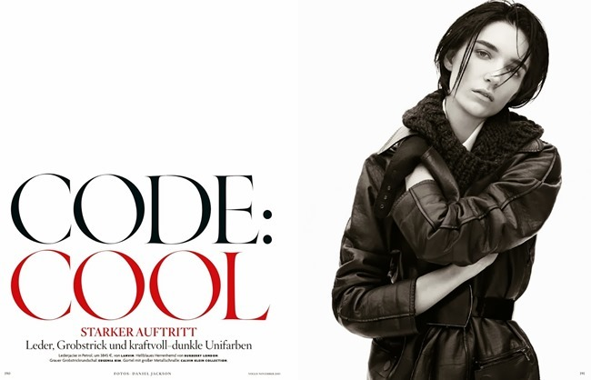 VOGUE GERMANY- Janice Alida in Code Cool by Daniel Jackson. Christiane Arp, November 2013, www.imageamplified.com, Image Amplified
