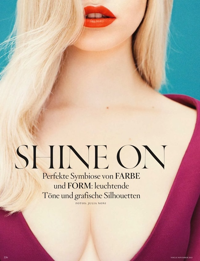 VOGUE GERMANY- Shine On by Julia Noni. Kathrine Schiffner, November 2013, www.imageamplified.com, Image Amplified