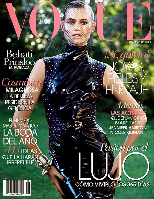 PREVIEW: Behati Prinsloo for Vogue Mexico, November 2013 by Photographer David Roemer