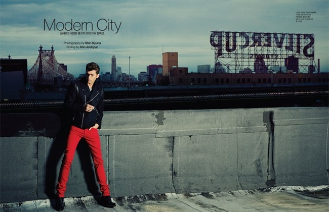 ARENA HOMME  KOREA- Sean O'Pry in Modern City by Hyuna shin. Joo Hyun Ahn, www.imageamplified.com, Image Amplified