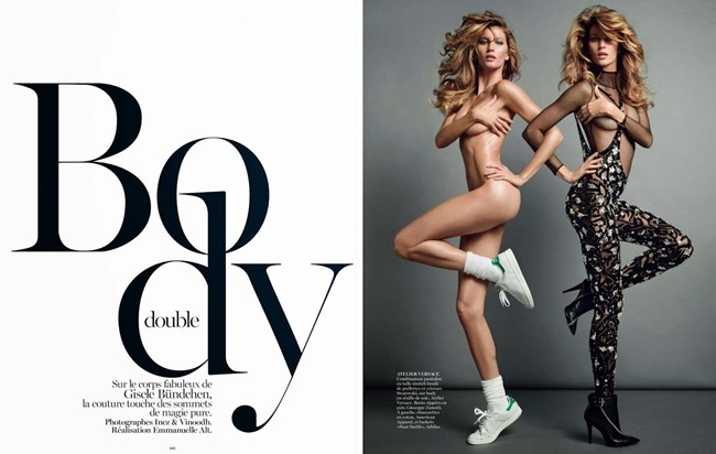VOGUE PARIS- Gisele Bundchen in Body Double by Inez & Vinoodh. Emmanuelle Alt, November 2013, www.imageamplified.com, Image Amplified