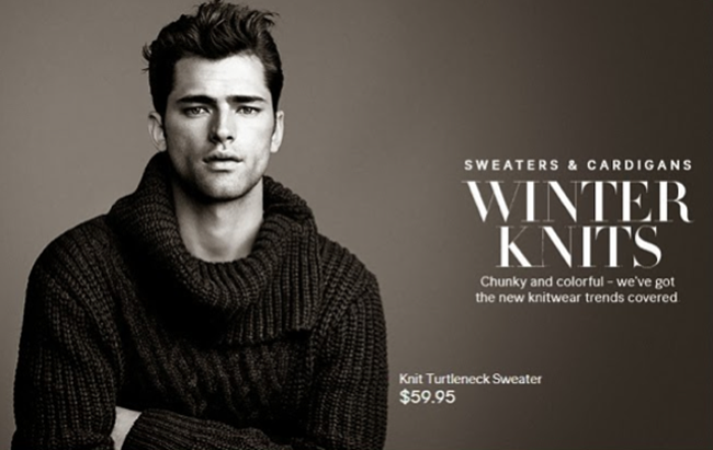 CAMPAIGN- Sean O'Pry in Winter Knits for H&M Fall 2013. www.imageamplified.com, Image Amplified