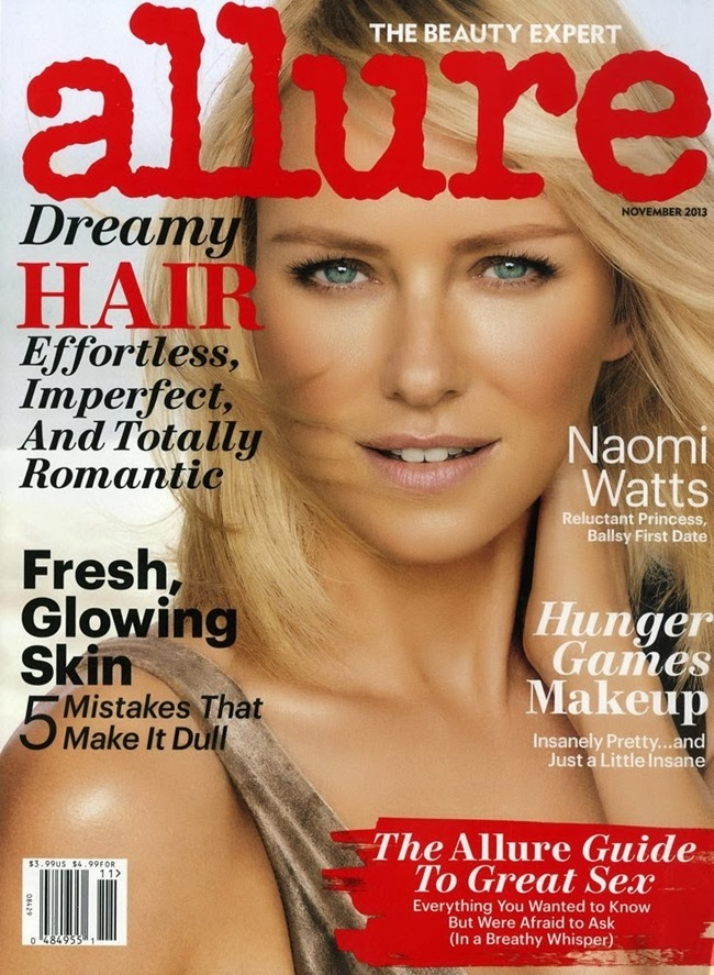 ALLURE MAGAZINE- Naomi Watts by Carter Smith. November 2013, www.imageamplified.com, Image amplified