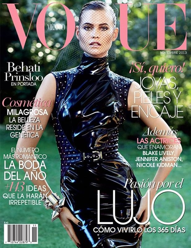 VOGUE MEXICO- Behati Prinsloo in Diva Noir by David Roemer. Sarah Gore Reeves, November 2013, www.imageamplified.com, Image Amplified