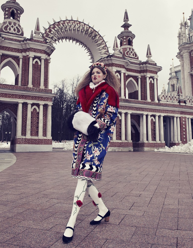 VOGUE JAPAN- LIndsey Wixson in The Anastasia of Winter by Emma Summerton. Giovanna Battaglia, December 2013, www.imageamplified.com, Image amplified