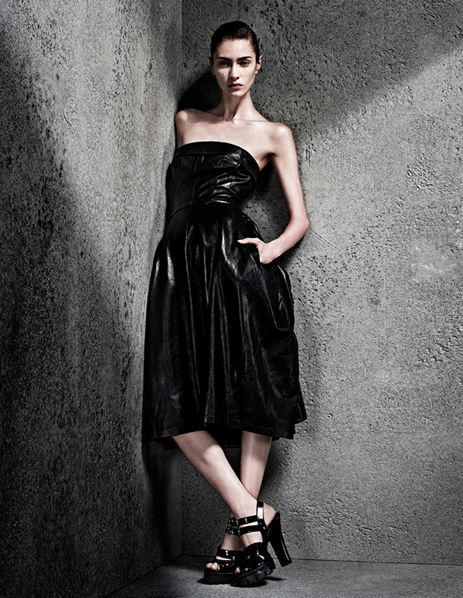 INTERVIEW GERMANY- Marine Deleeuw in Black Dress by Sharif Hamza. Julia von Boehm, November 2013, www.imageamplified.com, Image Amplified (6)