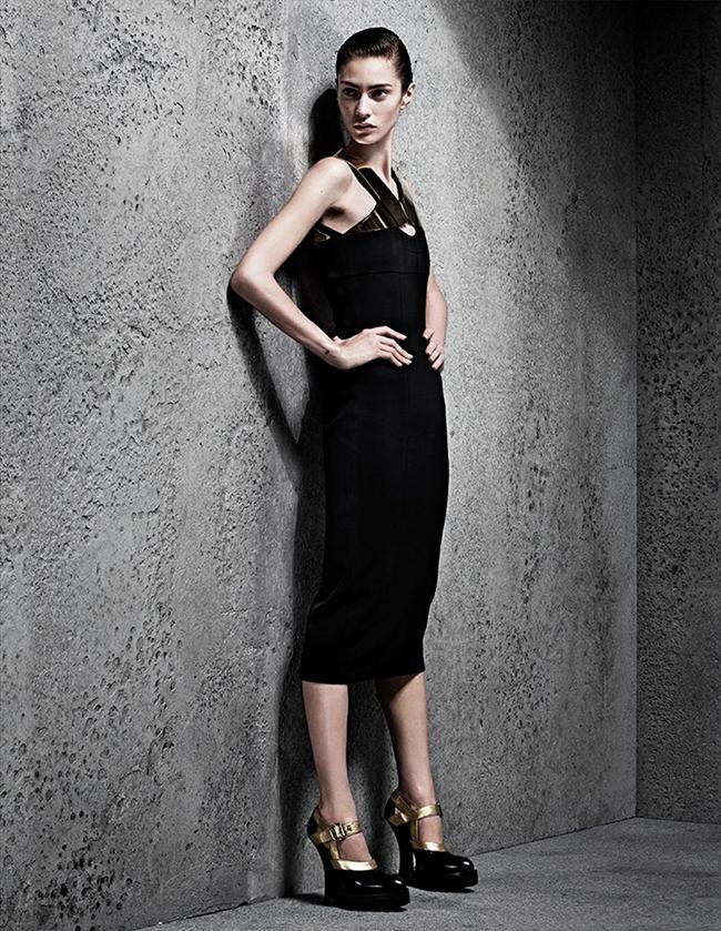 INTERVIEW GERMANY- Marine Deleeuw in Black Dress by Sharif Hamza. Julia von Boehm, November 2013, www.imageamplified.com, Image Amplified (9)