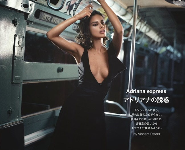 NUMERO TOKYO- Adriana LIma in ADriana Express by Vincent Peters. December 2013, www.imageamplified.com, Image Amplified