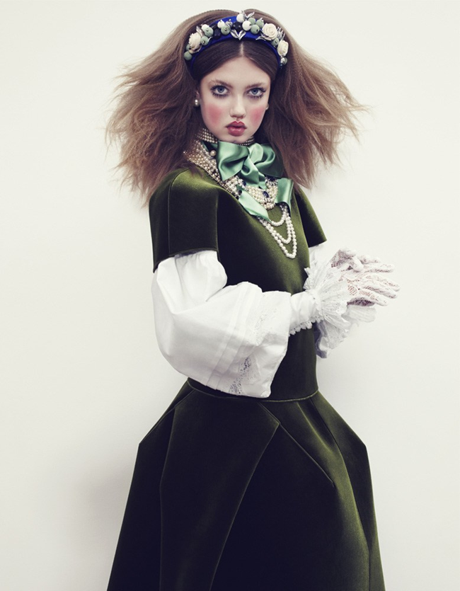 VOGUE JAPAN- LIndsey Wixson in The Anastasia of Winter by Emma Summerton. Giovanna Battaglia, December 2013, www.imageamplified.com, Image amplified (10)