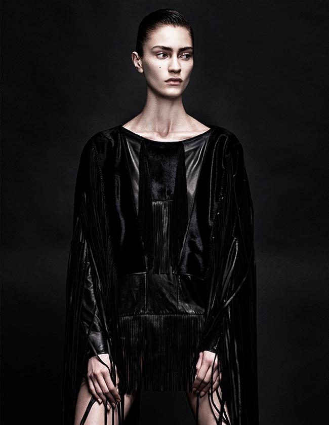 INTERVIEW GERMANY- Marine Deleeuw in Black Dress by Sharif Hamza. Julia von Boehm, November 2013, www.imageamplified.com, Image Amplified (2)