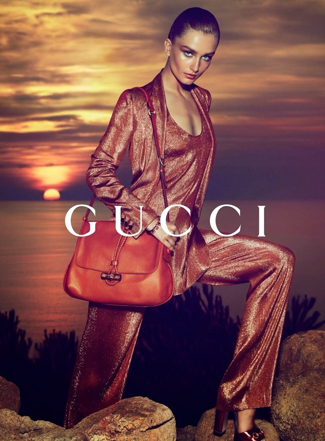 CAMPAIGN- Andreea Diaconu & Adrien Sahores for Gucci Resort 2014 by Mert & Marcus. www.imageamplified.com, Image Amplified