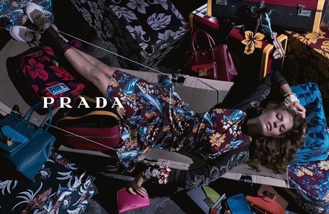 CAMPAIGN- Anna Ewers & Cameron Russell for Prada Resort 2014 by Steven Meisel. www.imageamplified.com, Image Amplified