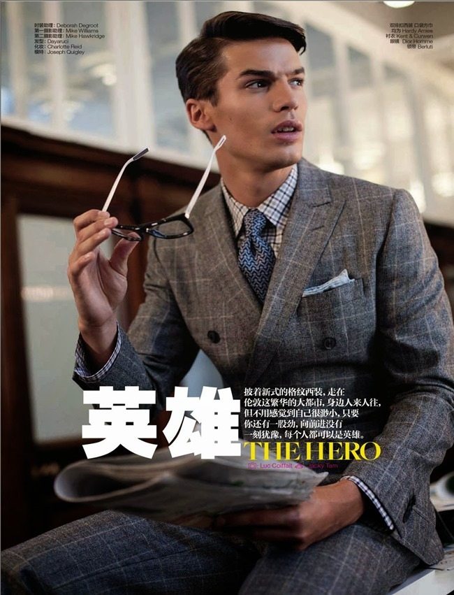 GQ CHINA- Joseph Quigley in The Hero by Luc Coiffait. Jacky Tam, October 2013, www.imageamplified.com, Image Amplified