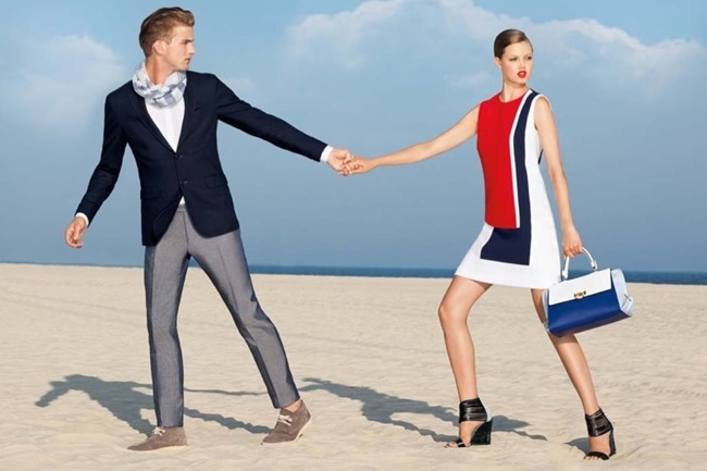 PREVIEW- RJ King & Lindsey Wixson for Tommy Hilfiger Resort 2014. www.imageamplified.com, Image Amplified