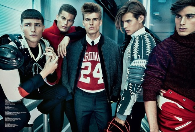 GQ STYLE ITALIA- Matt Trethe, Edward Wilding, Matt Woodhouse, Tyler Maher & Pietro Boselli in Dynamic by Thomas Cooksey. Fall 2013, www.imageamplified.com, Image Amplified (1)
