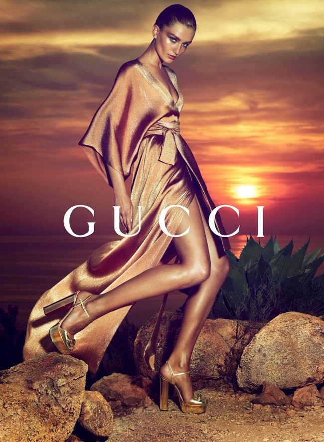 CAMPAIGN- Andreea Diaconu & Adrien Sahores for Gucci Resort 2014 by Mert & Marcus. www.imageamplified.com, Image Amplified (1)