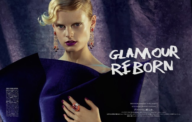 VOGUE JAPAN- Hanne Gaby Odiele in Glamour Reborn by Toby Knott. Sabino Pantone, December 2013, www.imageamplified.com, Image Amplified