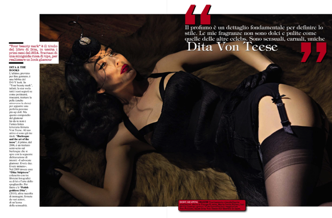VOGUE ITALIA- Dita von Teese in The Queen of Burlesque by Greg Lotus. Laura Duncan, November 2013, www.imageamplified.com, Image Amplified (4)
