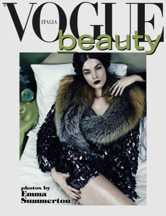 VOGUE ITALIA- Beauty by Emma Summerton. November 2013, www.imageamplified.com, Image Amplified