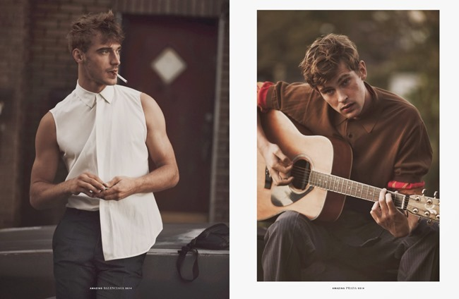HERO MAGAZINE- Mathias Lauridsen & Clement Chabernaud in Amazing by Guy Aroch. Gro Curtis, Fall 2013, www.imageamplified.com, Image Amplified (4)