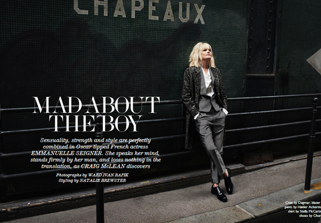 THE EDIT MAGAZINE- Emmanuelle Seigner in Mad About The Boy by Ward Ivan RAfik. Natalie Brewster, November 2013, www.imageamplified.com, Image Amplified (1)