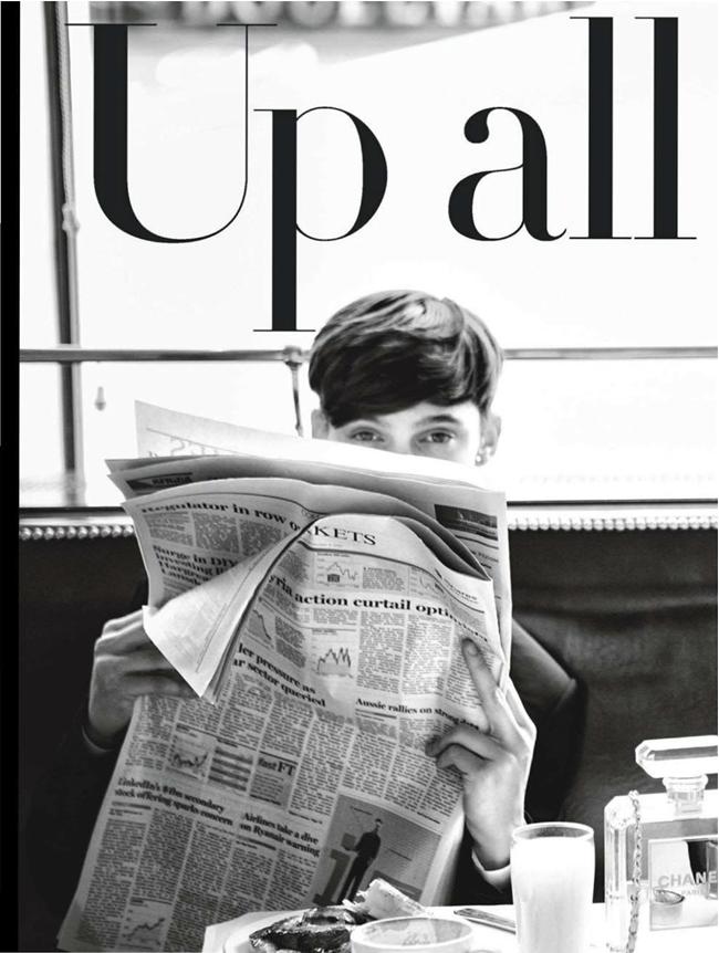 GLAMOUR UK- Gabriella Wilde in UP All Night by Walter Chin. Karen Preston, December 2013, www.imageamplified.com, Image Amplified