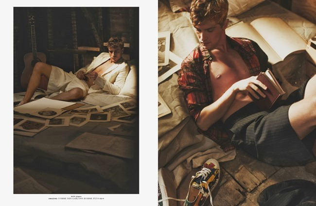 HERO MAGAZINE- Mathias Lauridsen & Clement Chabernaud in Amazing by Guy Aroch. Gro Curtis, Fall 2013, www.imageamplified.com, Image Amplified (5)