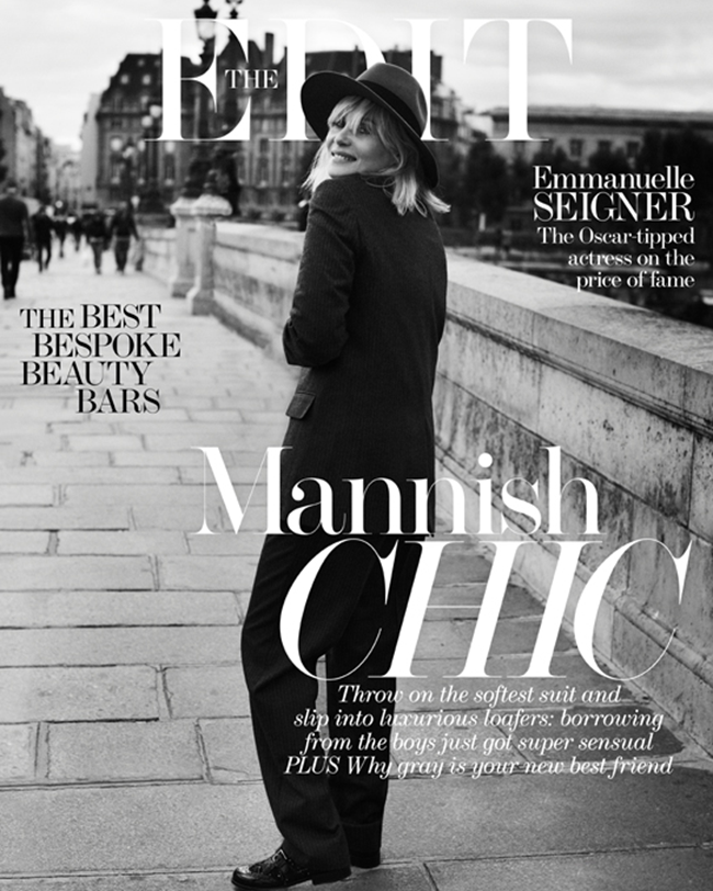 THE EDIT MAGAZINE- Emmanuelle Seigner in Mad About The Boy by Ward Ivan RAfik. Natalie Brewster, November 2013, www.imageamplified.com, Image Amplified