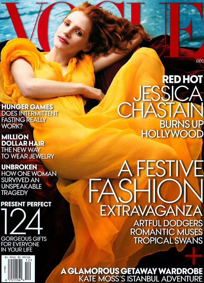 PREVIEW: Jessica Chastain for Vogue, December 2013 by Annie Leibovitz