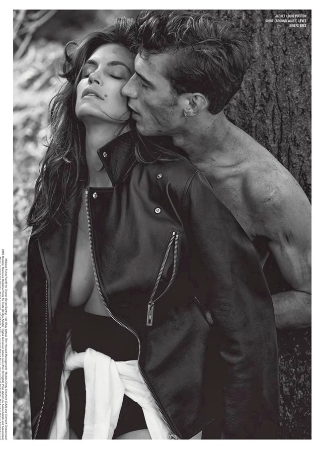V MAGAZINE- Cindy Crawford & Clement Chabernaud in Cindy in Menswear by Sebastian Faena. Sarajane Hoare, Fall 2013, www.imageamplified.com, Image Amplified (7)