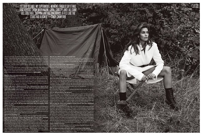 V MAGAZINE- Cindy Crawford & Clement Chabernaud in Cindy in Menswear by Sebastian Faena. Sarajane Hoare, Fall 2013, www.imageamplified.com, Image Amplified (4)