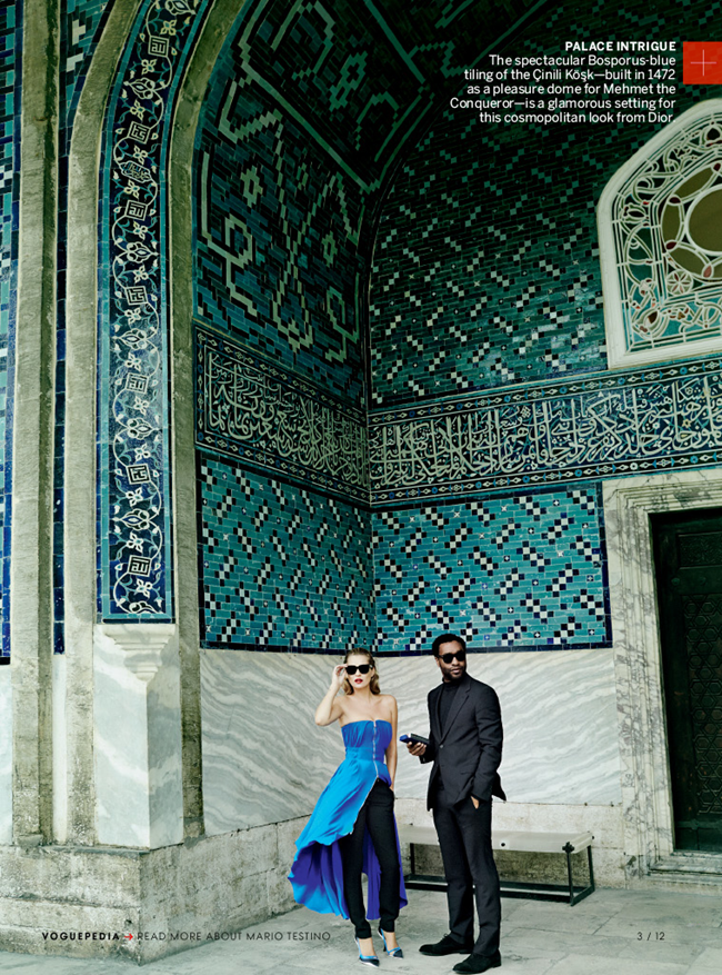 VOGUE MAGAZINE- Kate Moss & Chiwetel Ejiofor in The Silk Road by Mario Testino. Tonne Goodman, December 2013, www.imageamplified.com, Image Amplified (2)