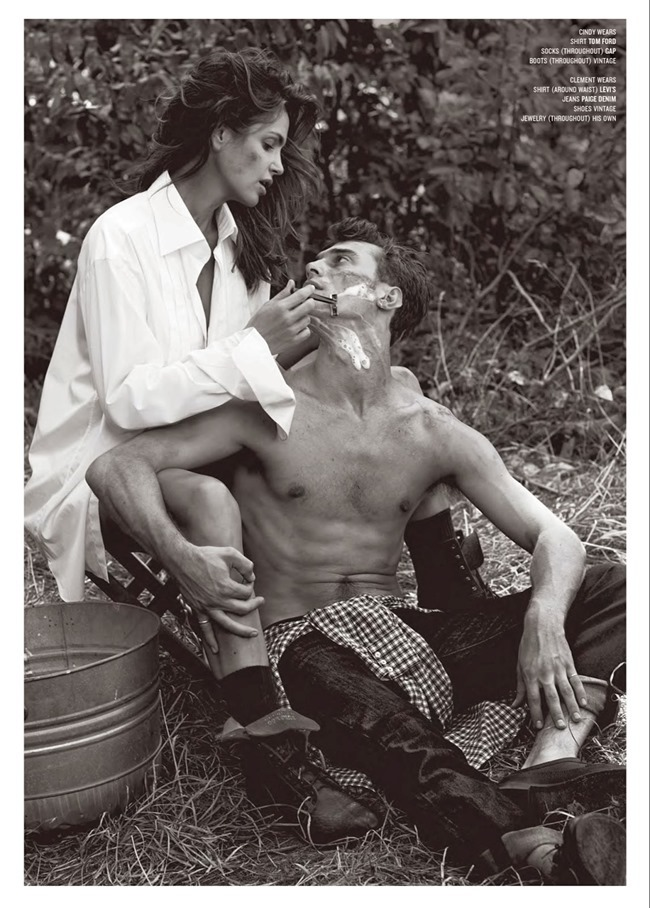V MAGAZINE- Cindy Crawford & Clement Chabernaud in Cindy in Menswear by Sebastian Faena. Sarajane Hoare, Fall 2013, www.imageamplified.com, Image Amplified (3)