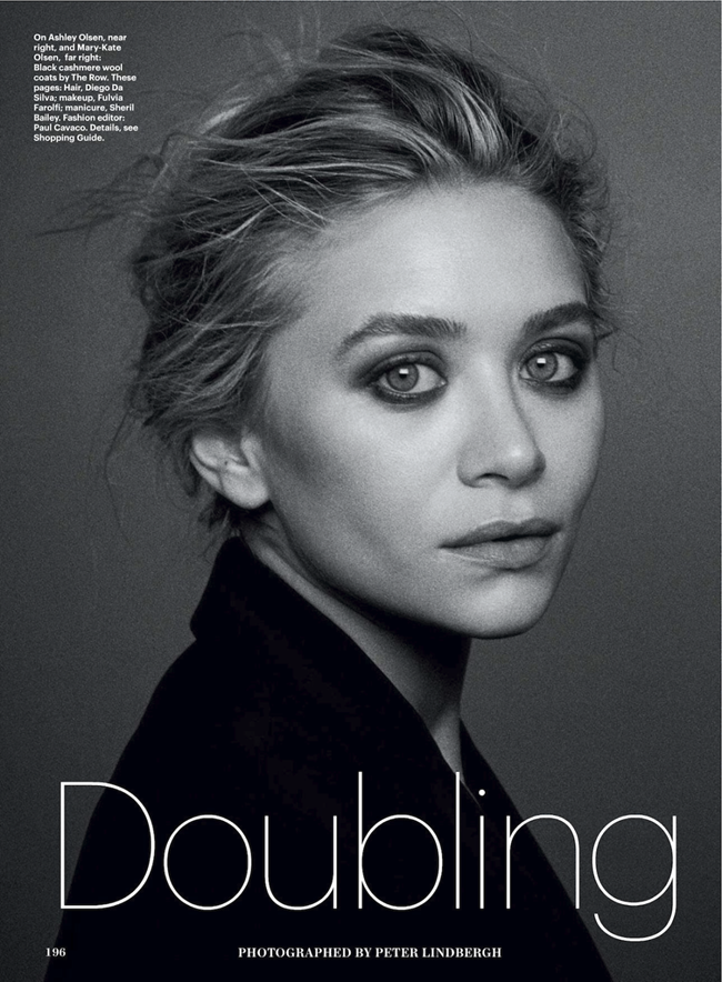 ALLURE MAGAZINE- Mary-Kate & Ashley Olsen in Doubling Down by Peter Lindbergh. Paul Cavaco, December 2013, www.imageamplified.com, Image Amplified