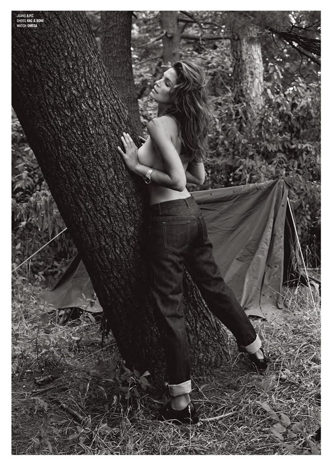 V MAGAZINE- Cindy Crawford & Clement Chabernaud in Cindy in Menswear by Sebastian Faena. Sarajane Hoare, Fall 2013, www.imageamplified.com, Image Amplified (2)